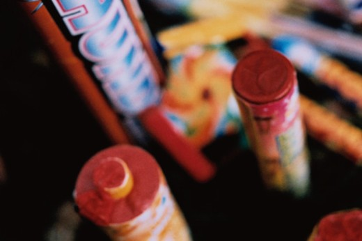 Stock Photo: 1598R-10044542 Firework Collection