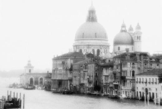 GRAND CANAL & SANTA MARIA DELLA SALUTE / VENICE, ITALY : Stock Photo