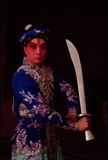 China, Beijing, Beijing Opera performer, portrait : Stock Photo