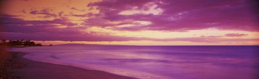 USA, Hawaii, Maui, Lahaina, coastal scenic, sunset : Stock Photo