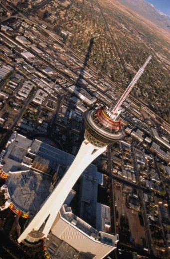 At 1,149ft (135 storeys) the Stratosphere Tower is the tallest free-standing tower in the USA. : Stock Photo