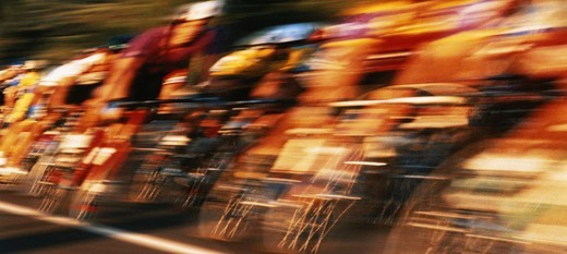 Stock Photo: 1598R-10069808 Bicycle race (blurred motion)