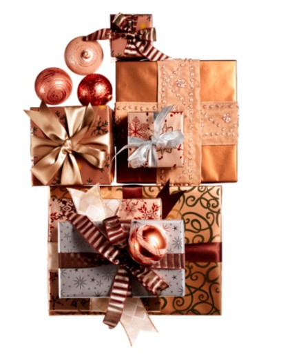 Wrapped presents : Stock Photo