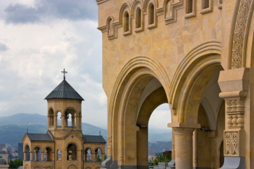 Stock Photo: 1598R-10072222 Holy Trinity Cathedral of Tbilisi, also known as Sameba