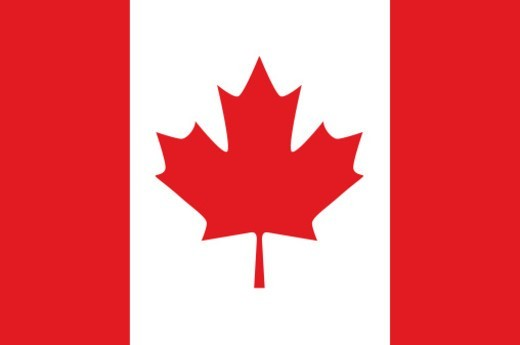 Illustration of the national flag of Canada : Stock Photo