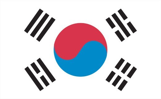 Stock Photo: 1598R-10074474 Illustration of the national flag of South Korea