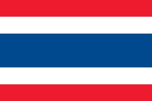 Stock Photo: 1598R-10074501 Illustration of the national flag of Thailand
