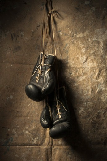Stock Photo: 1598R-10077029 Boxing gloves