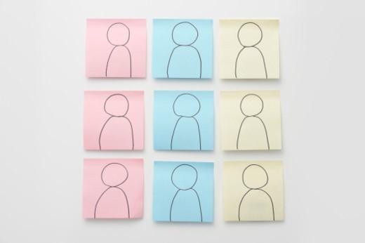 Stock Photo: 1598R-10078370 A person's icon,paper