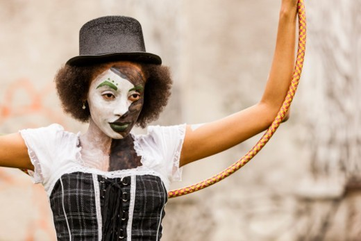 Stock Photo: 1598R-10080840 Yandea the Mime