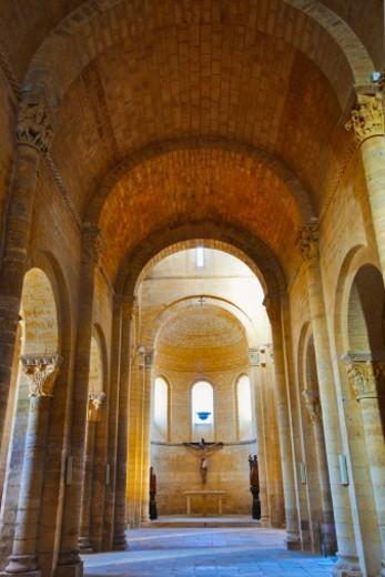 Saint Martin church. Romanesque style. Fromista.  Palencia. Castilla y Leon. Spain. Camino de Santiago (The way of St. James.). : Stock Photo