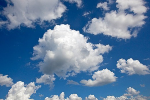 Stock Photo: 1598R-10082309 Storm clouds in a blue sky