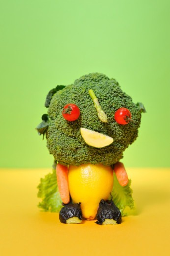 Stock Photo: 1598R-10082640 vegetable doll
