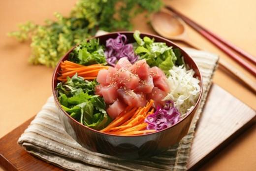 Korean food, Hoedeopbap : Stock Photo
