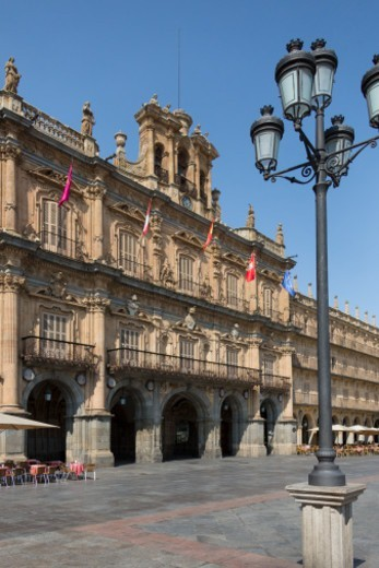 Stock Photo: 1598R-10084535 The Royal Pavillion in the Plaza Major in the city of Salamanca in the Castilla-y-Leon region of central Spain.