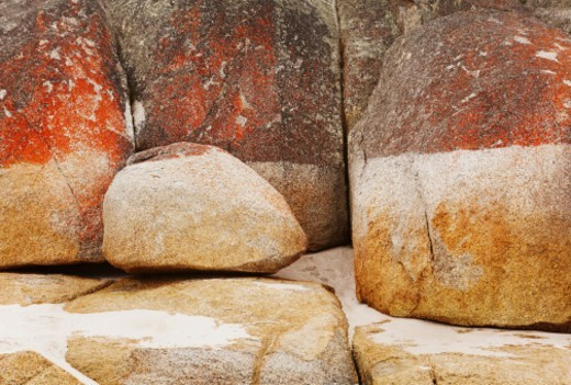 Stock Photo: 1598R-10088002 Rocks in Bay of Fires, Tasmania