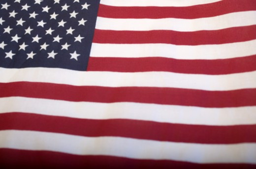 Stock Photo: 1598R-101901 Flag of United States of America, detail