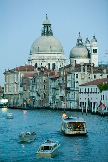 Boats in  canal and houses, Venice, Italy : Stock Photo