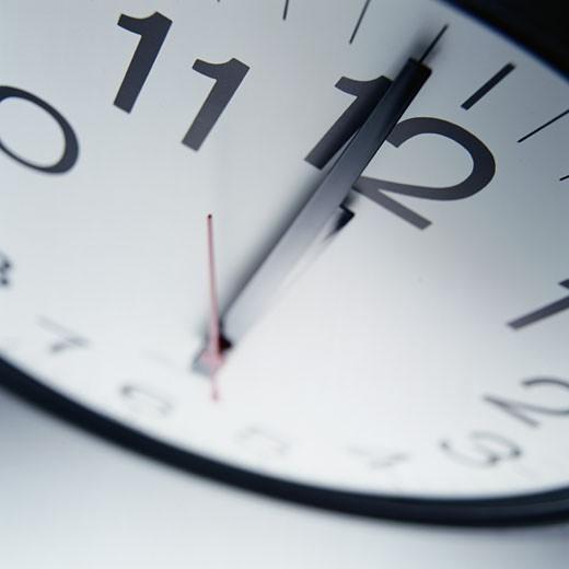 Stock Photo: 1598R-106139 One Minute Until Twelve O'Clock