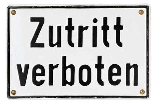 German Do Not Enter Sign : Stock Photo