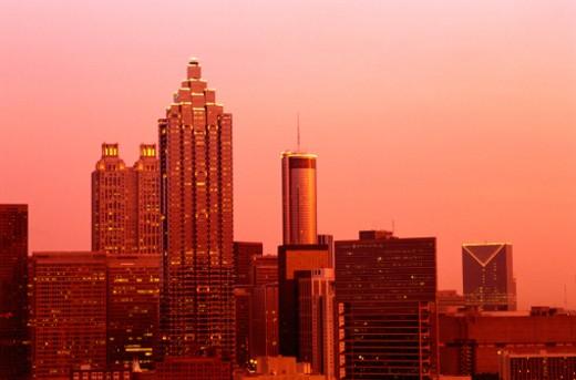 Downtown Atlanta, Georgia at Sunset : Stock Photo