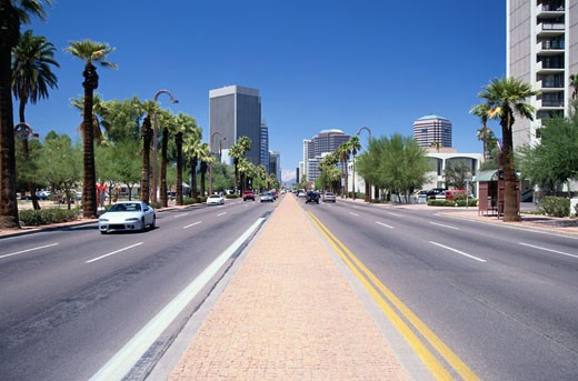 Stock Photo: 1598R-109080 Downtown Phoenix