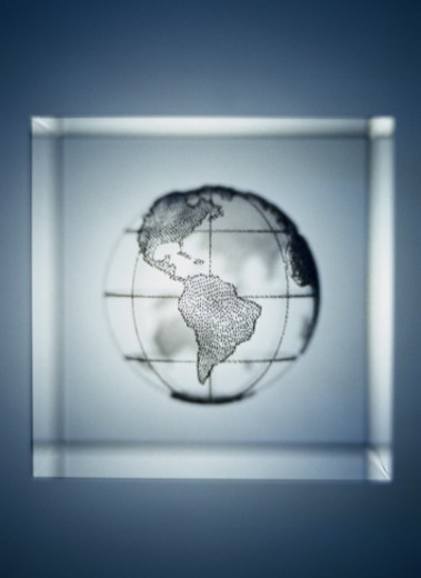 Stock Photo: 1598R-112837 Globe showing North and South America