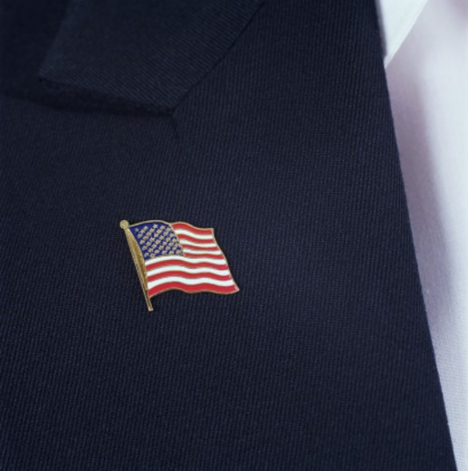 Stock Photo: 1598R-113789 American flag pin