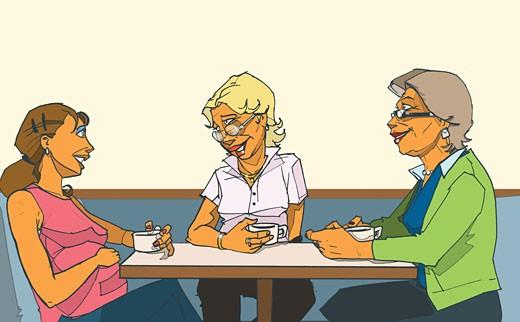 Three Generations of Women : Stock Photo