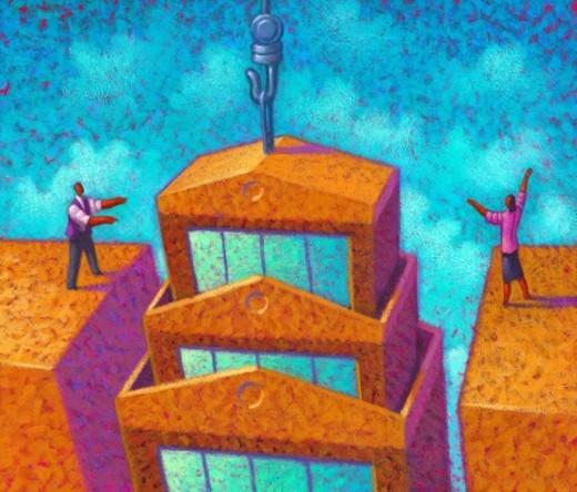 Directing Corporate Merger : Stock Photo