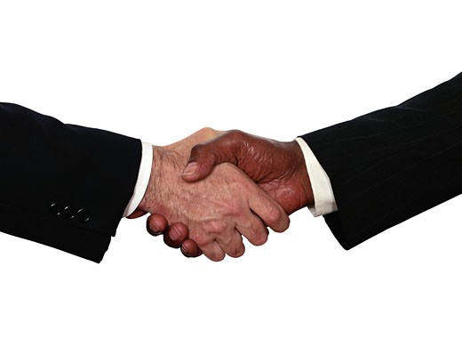 Stock Photo: 1598R-116102 Handshake