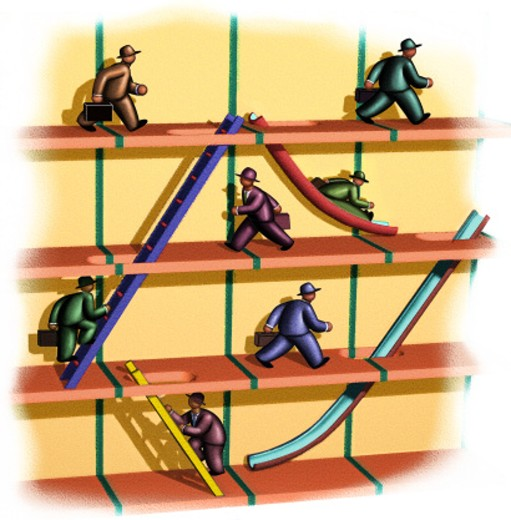 Climbing the Corporate Ladder : Stock Photo