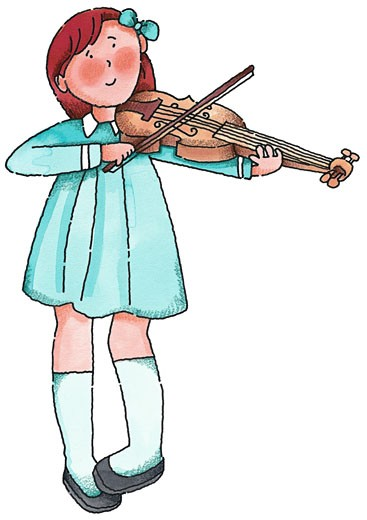 Stock Photo: 1598R-118088 Girl Playing Violin