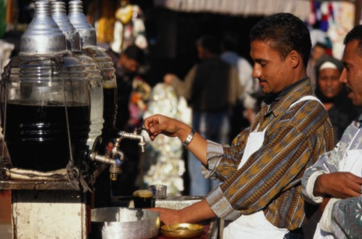 Selling Juice in Cairo : Stock Photo