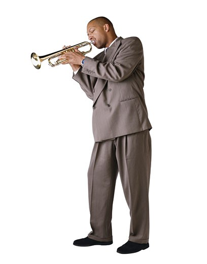 Trumpet Player : Stock Photo