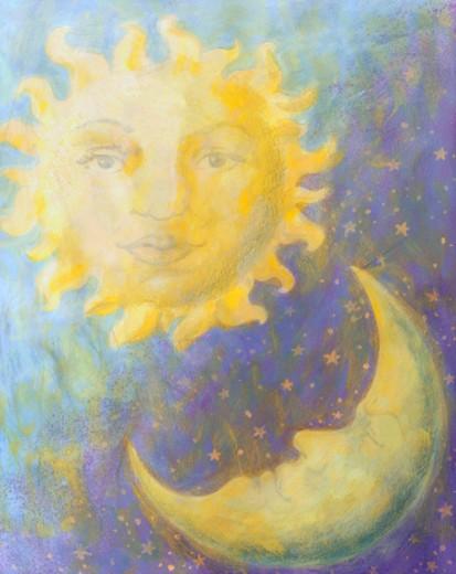 Sun & Moon : Stock Photo