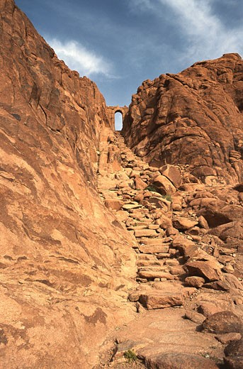 Stock Photo: 1598R-125392 Steps of Repentance at Mt Sinai