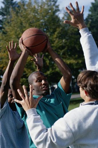 Stock Photo: 1598R-126218 Playing Basketball