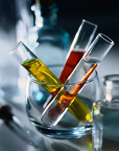 Test Tubes in Glass : Stock Photo