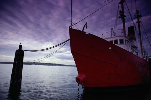 Stock Photo: 1598R-127790 Moored Fishing Boat