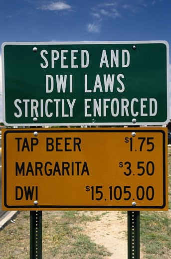DWI Road Sign : Stock Photo