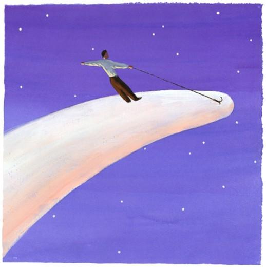 Man Riding Comet : Stock Photo