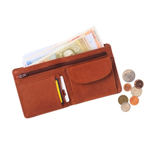 Wallet with German Money : Stock Photo
