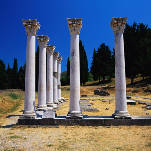 Stock Photo: 1598R-145732 Columns of Asklepieion in Kos, Greece