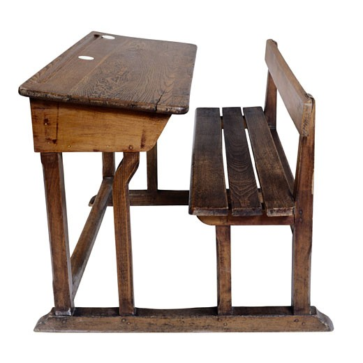 Antique School Desk : Stock Photo