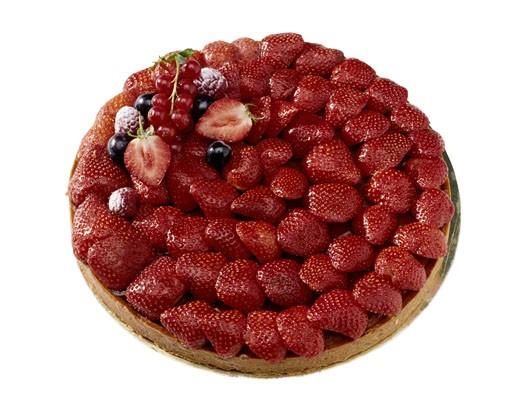 French Strawberry Pie : Stock Photo