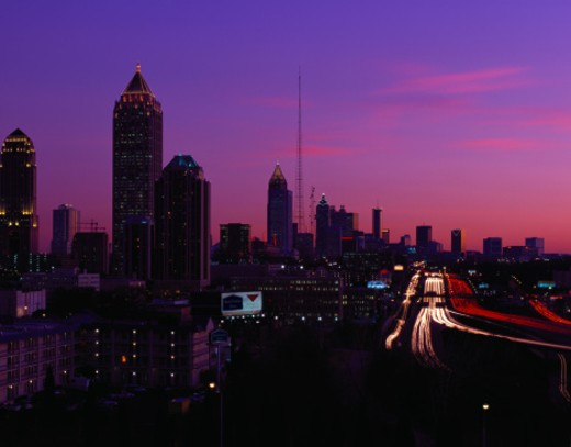 Atlanta Skyline at Twilight, Georgia : Stock Photo