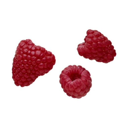 Raspberries, Close-Up : Stock Photo
