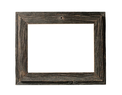 Weathered Wood Picture Frame : Stock Photo