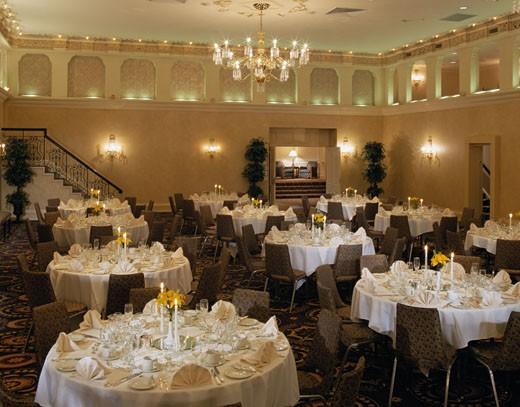 Hotel dining room : Stock Photo
